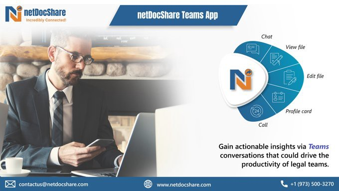 netDocShare Teams app for collaboration