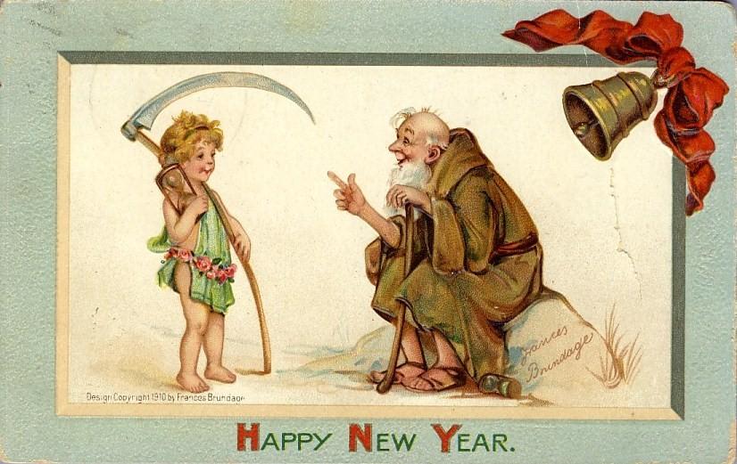 postcardhappynewyearoldmankidscythehourglass1910