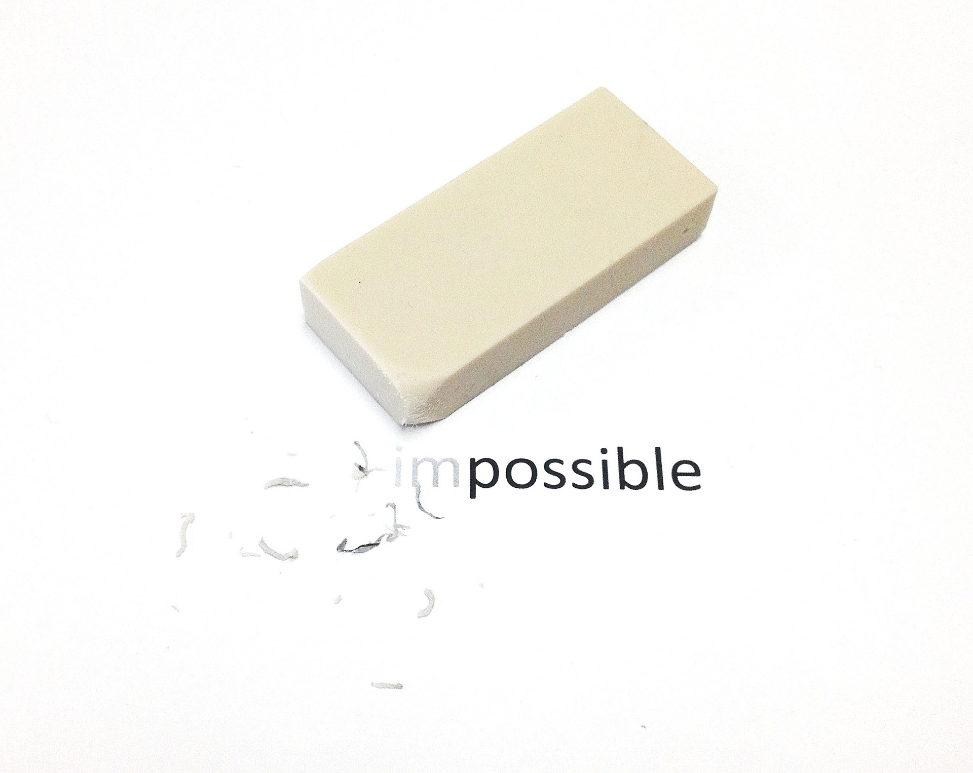 """erasing """"im"""" from """"impossible"""""""