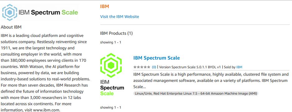 ibm spectrum scale marketplace