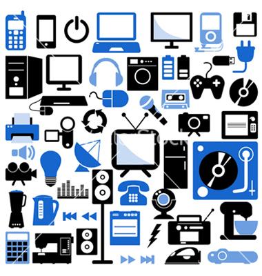 electronic-icons-set