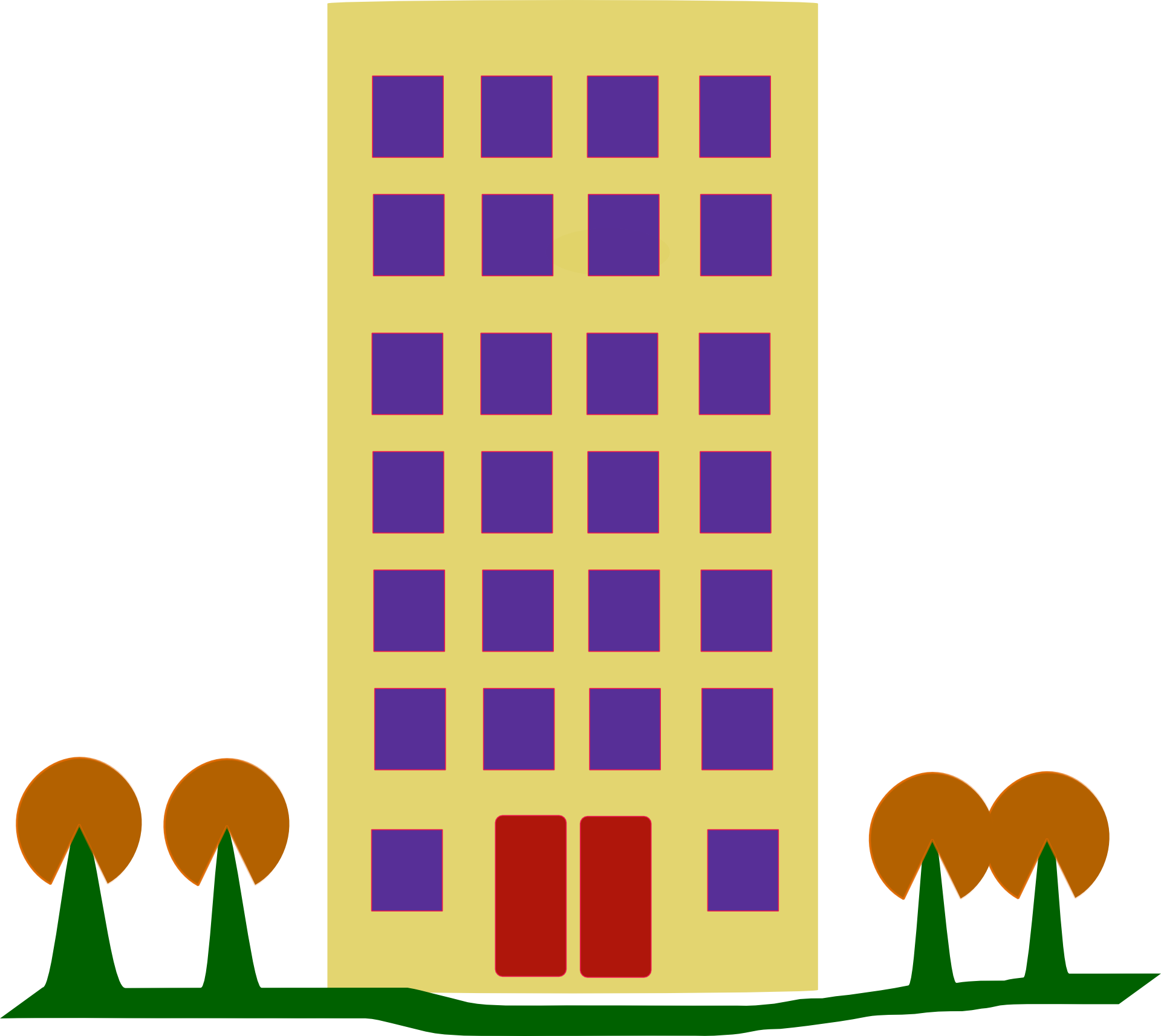 building on an island