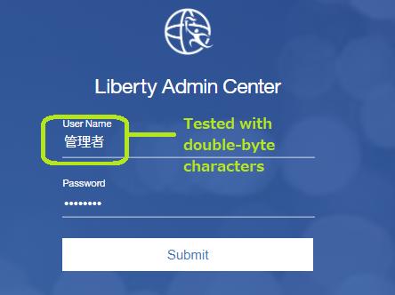Login with DBCS username