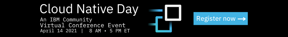 Cloud Native Day registration banner April 14 2021 8am to 5pm ET click to register