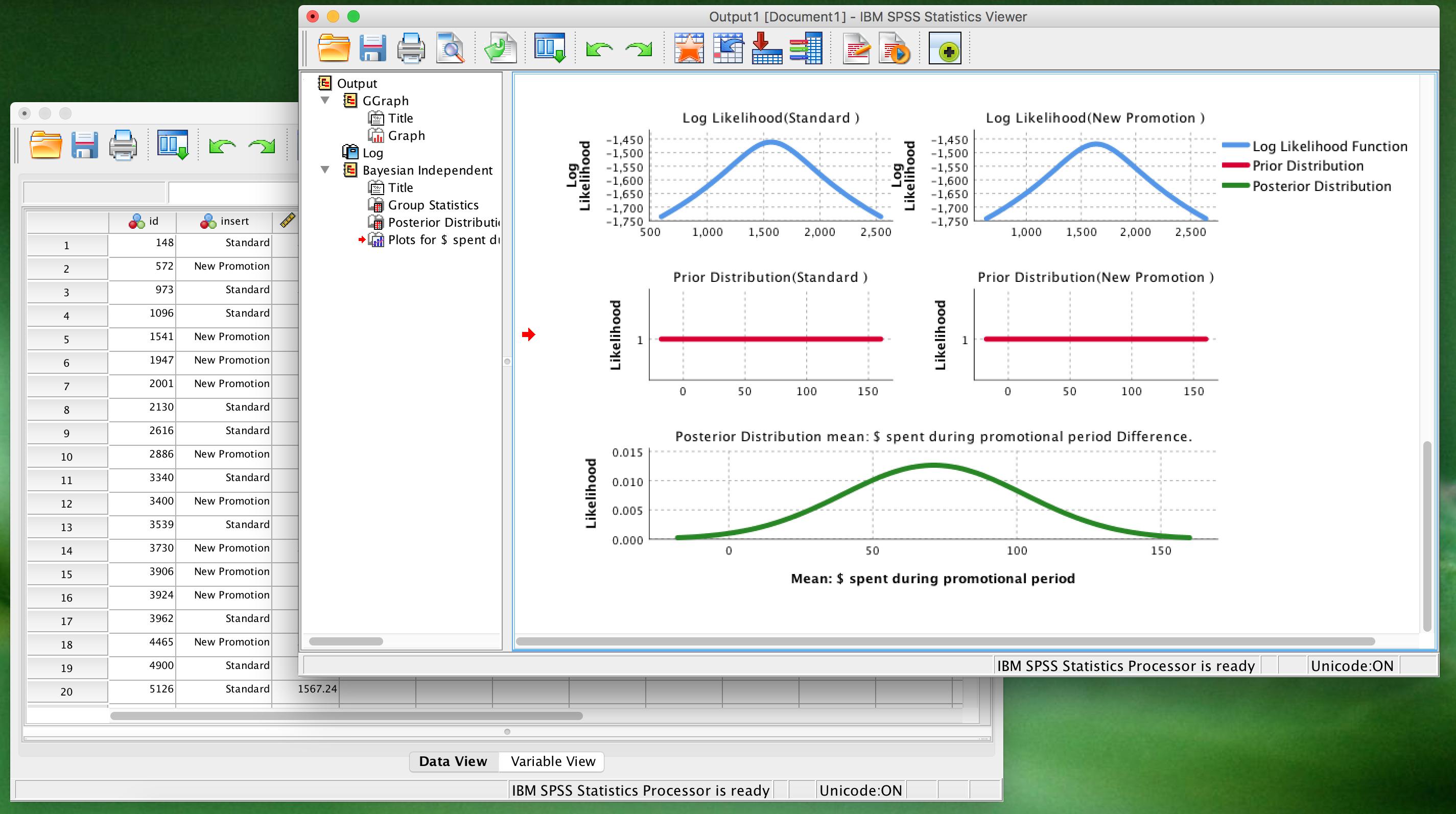 SPSS Statistics 25 Screenshot