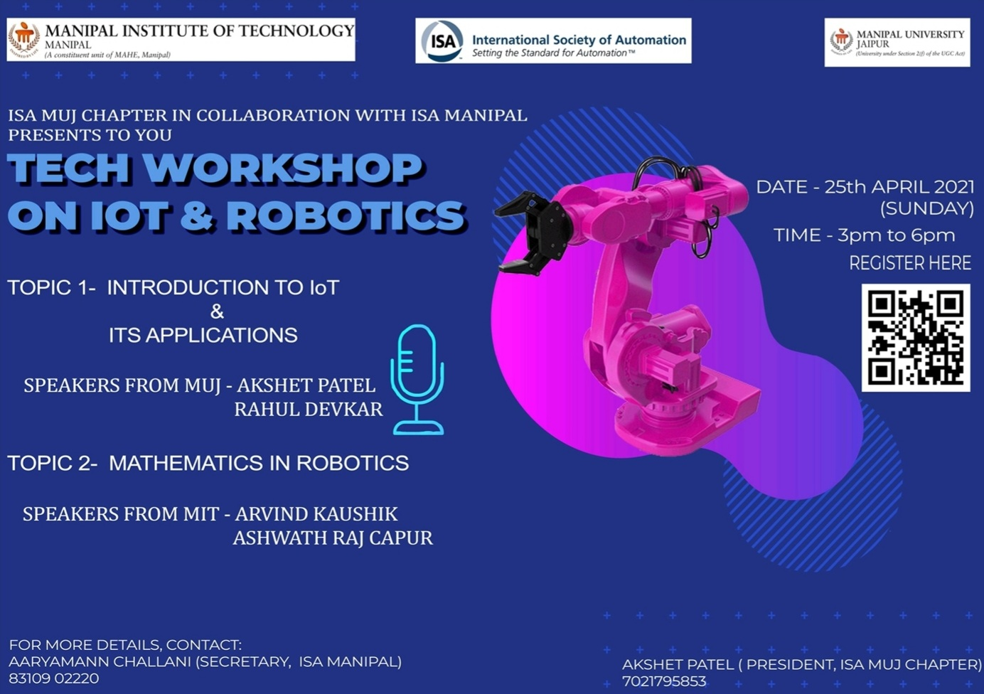 Poster for the workshop.
