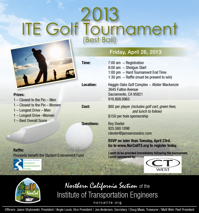 norcal ite 2013 golf tournament e community. Black Bedroom Furniture Sets. Home Design Ideas
