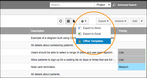 How to change the Export to Word Default template to remove extra ...