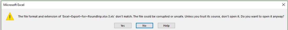 Excel format error