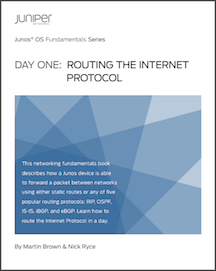Routing the Internet Protocol Juniper Day One Book