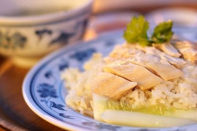 Chicken rice - one of Singapore's local favorites