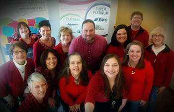 MAIA Staff on Wear Red Day