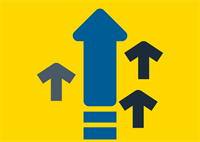 illustration of arrows pointing up