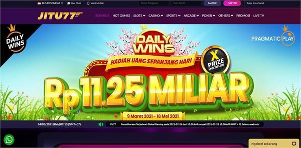 Daftar Bonus di Agen Judi Slot Online Jitu77 Termurah