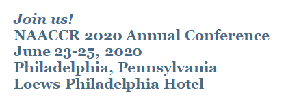 Join us! NAACCR 2020 Annual Conference  June 23-25, 2020  Philadelphia, Pennsylvania Loews Philadelphia Hotel