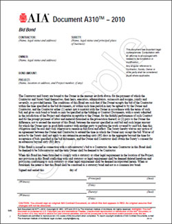 Aia a101 2007 commentary for Suretyship agreement template