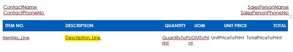 Sales Quote Report