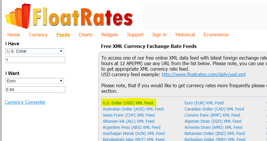 Currency Exchange Rate Service | Open Forum