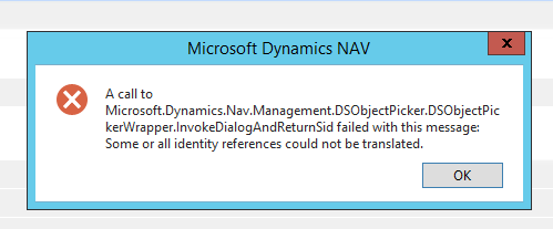 Error Message received when trying to change windows username