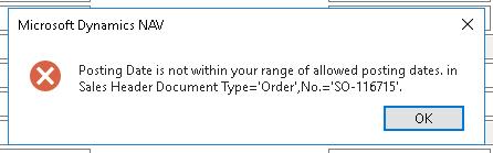Posting Date Error