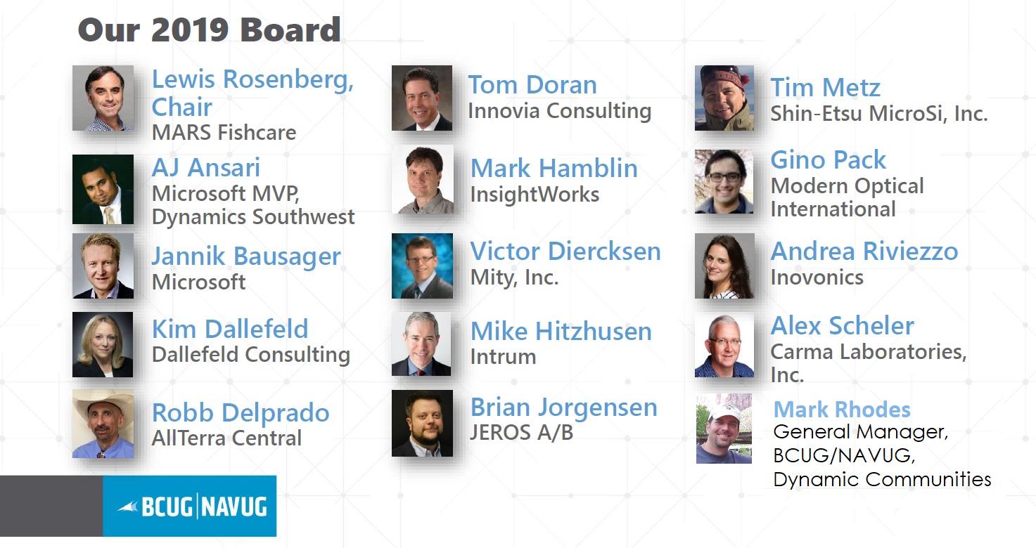 BCUG-NAVUG 2019 Board of Advisors