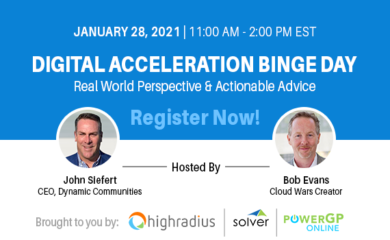 Digital Acceleration Binge Day.  January 28th 2021 | 11:00 AM - 2:00 PM EST