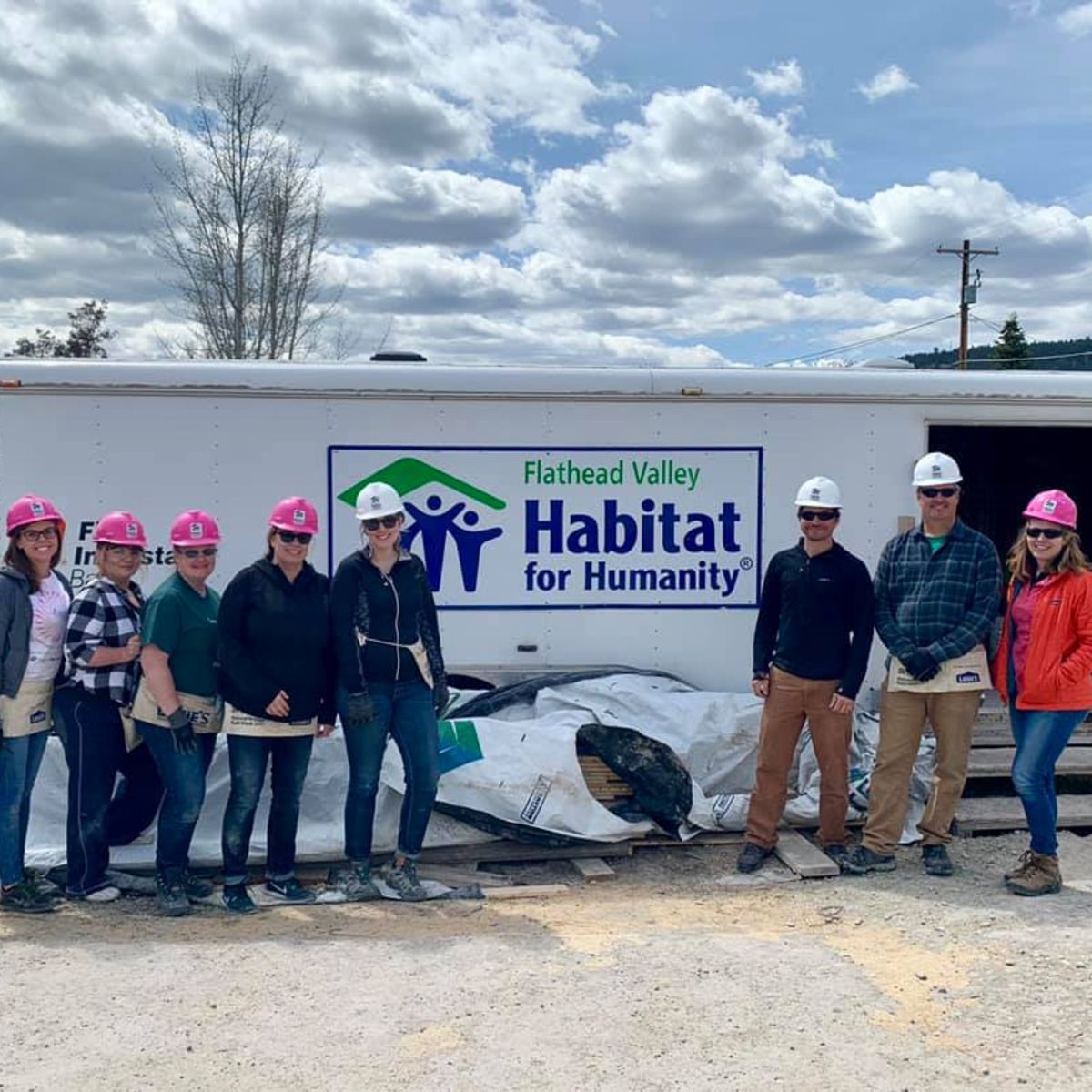Flathead Valley, Habitat for Humanity group picture