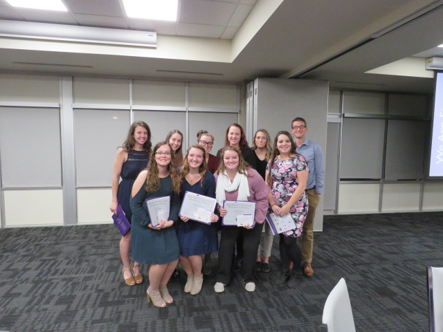 students with certificates
