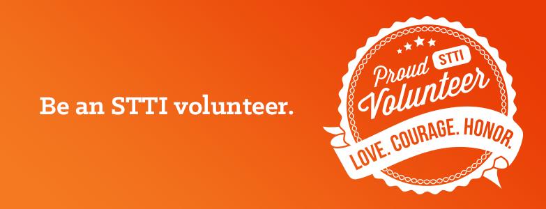 Proud STTI volunteer Love Courage Honor
