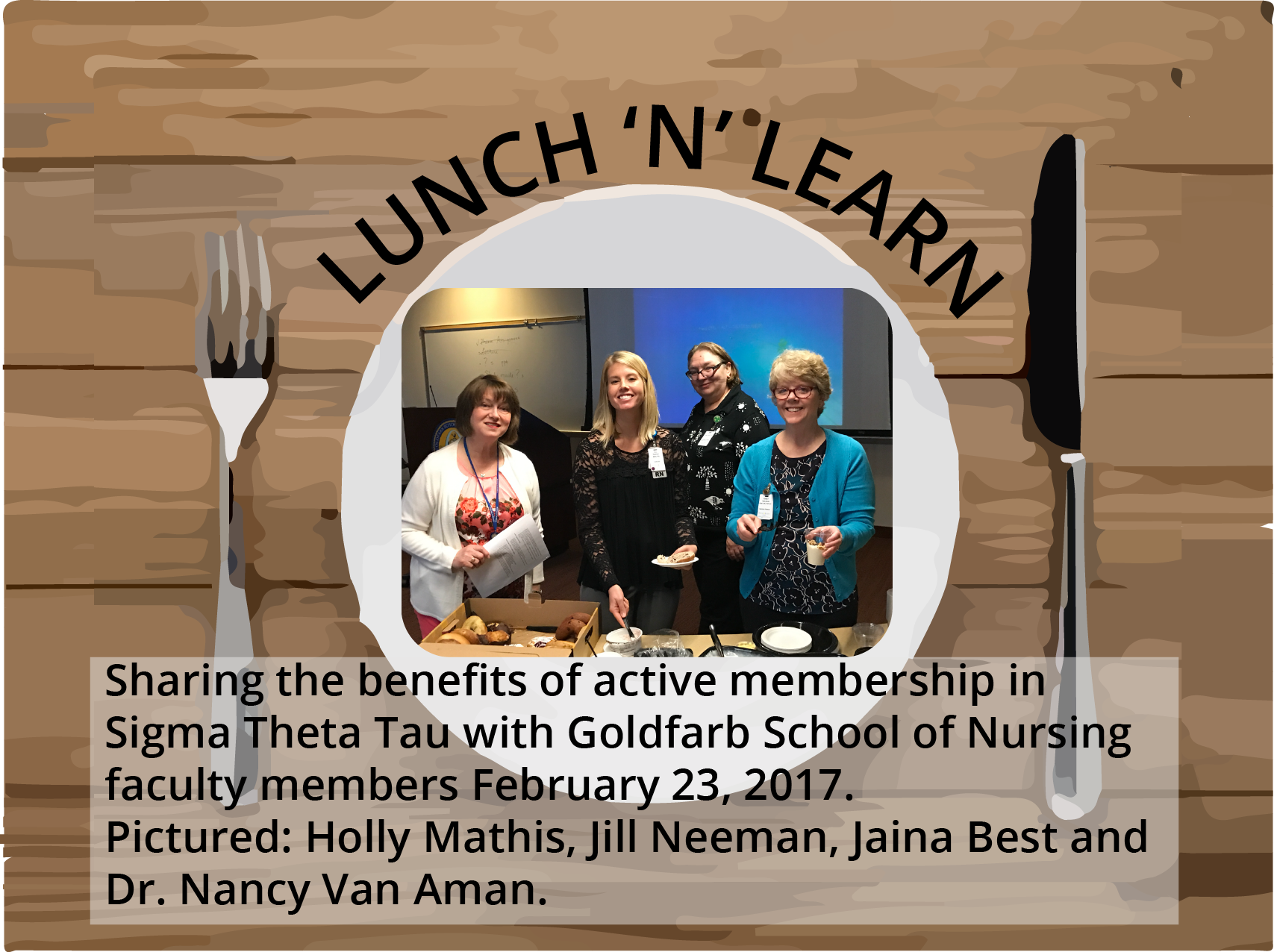 Lunch N Learn for Goldfarb faculty