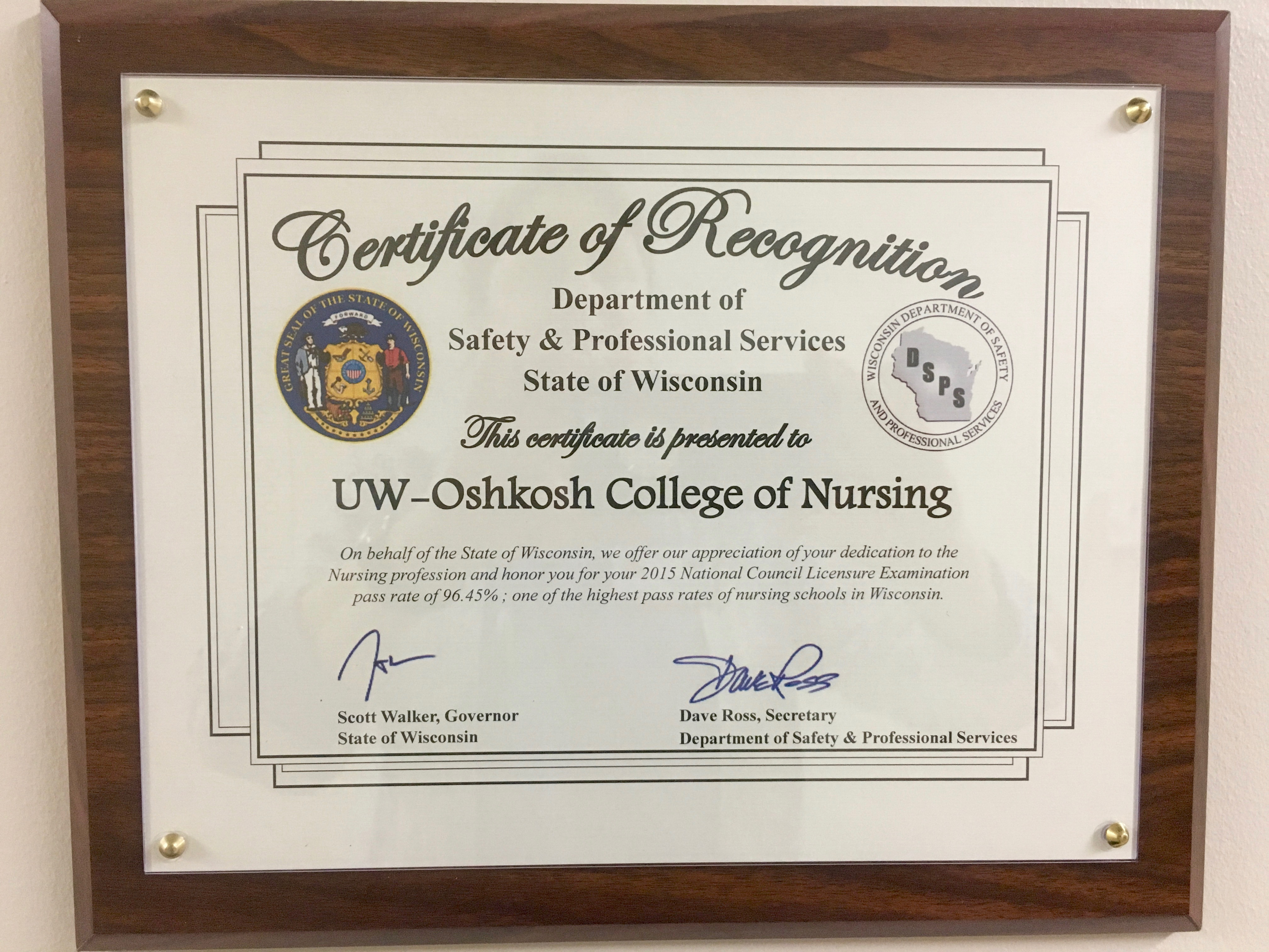 UW Oshkosh College of Nursing - Eta Pi Chapter