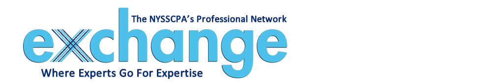 Exchange: The NYSSCPA's Professional Network | Where Experts Go For Expertise