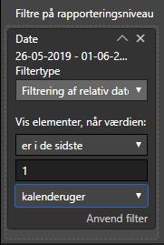indstilling af filter