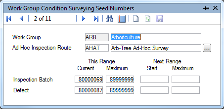 Condition Survey Seed Number