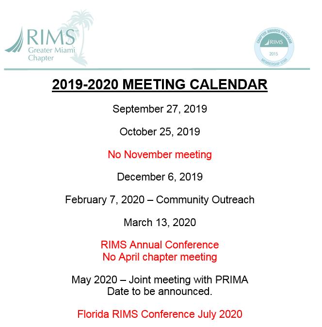 Rims Calendar