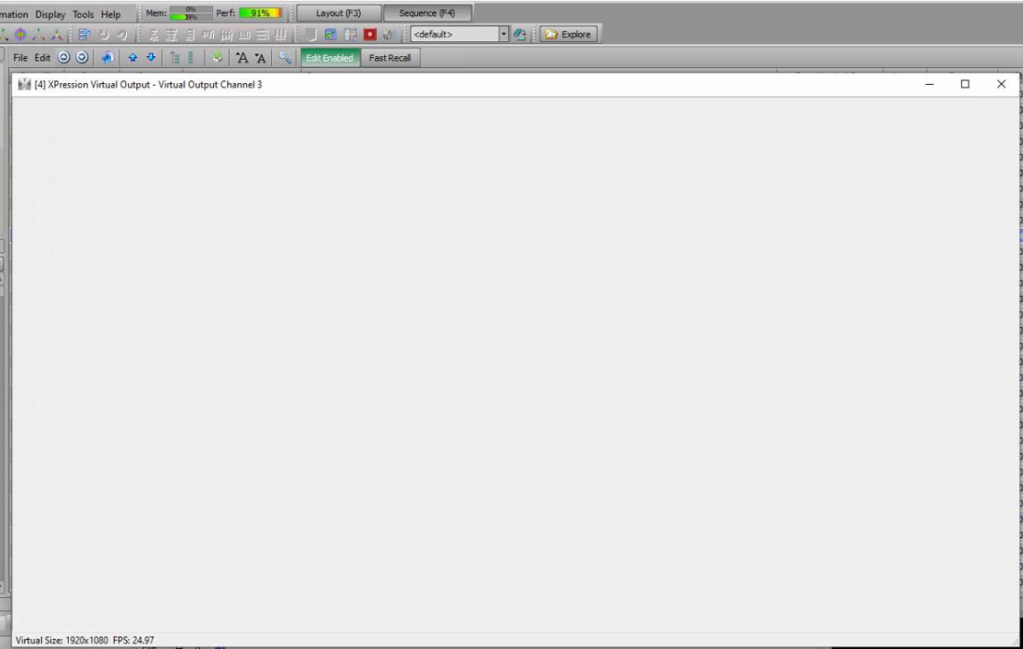 Blank screen on Virtual Output