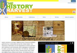 University of Nebraska's History Harvest project,