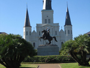 An early Section 106 case involved proposed highway construction through the French Quarter in New Orleans, which would have affected iconic landmarks such as the St. Louis Cathedral. | Courtesy Wikipedia Commons