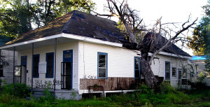 4804 Dauphine Street in Holy Cross, in 2005 following Hurricane Katrina. | Preservation Resource Center of New Orleans