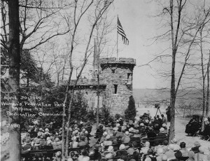 April 1929, Opening monument to role of NJ Women's Clubs in preserving palisades
