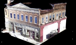3D point cloud showing post-quake structural wall damage.   Credit: Napa County Landmarks