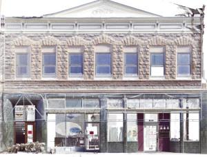 Point cloud facade elevation showing masonry detail.   Credit: Napa County Landmarks
