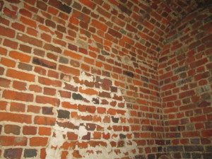 The interior of the space beneath the portico steps. | Credit: Drayton Hall Preservation Trust