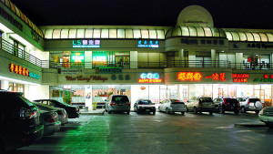 A suburban strip mall in the Chinese ethnoburb of Monterey Park, near Los Angeles. | Credit: Chris Cusson via Flickr under Creative Commons