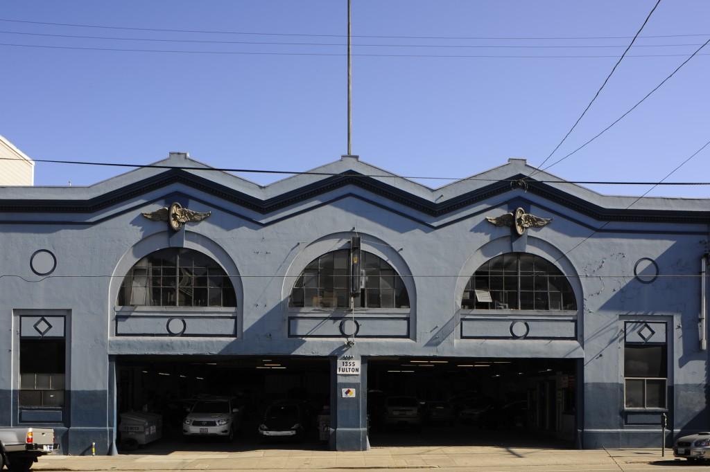 1355 Fulton Street. Mel I. Schwartz, Architect, 1923. Triple portal and open gable motif recalls New York's demolished Pennsylvania Station . | Credit: Sharon Risedorph