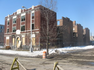 Schools, such as this one in Detroit, are being successfully repurposed for housing. (Before) | Credit:  Michigan Historic Preservation Network