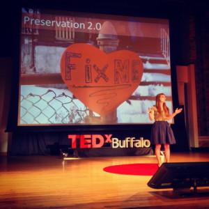 Bernice Radle presenting at TedxBuffalo in 2013. | Courtesy of Bernice Radle