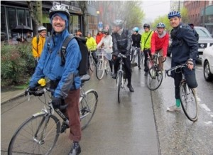 Group of bikers during the Seattle Capitol Hill Ecodistrict tour | Credit: Josh Okrent , Capitol Hill Housing