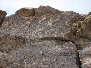 Last year, thieves stole carvings from Volcanic Tableland, an unprotected site sacred to the Paiute people. In his opinion piece, Mike Gatto, who authored the bill, expresses concern over this and other examples of neglecting to protect California history. | Credit:  The Greater Southwestern Exploration Company via Flickr via Creative Commons