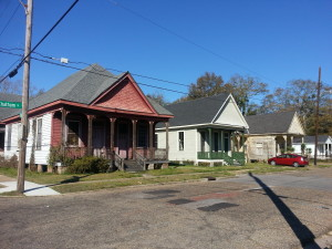 a streetscape view of Texas Hill nhood in Mobile (#102714),